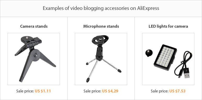 Dropshipping niche ideas: video blogging equipment