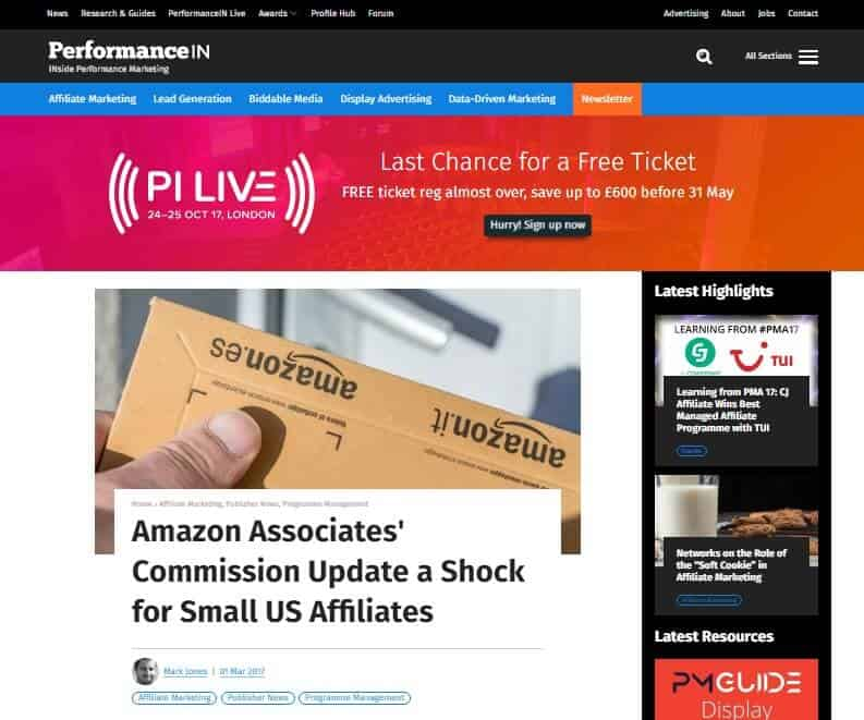 a picture showing that amazon affiliate marketing is now questionable