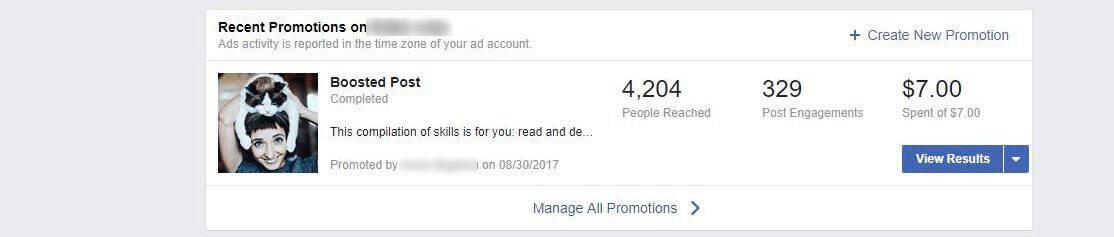 boosts on Facebook