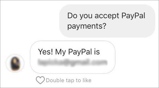 Payment Instagram shoutouts