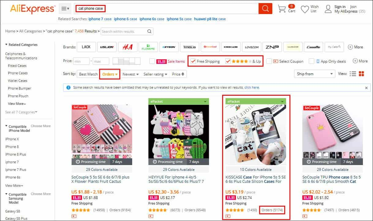 pick Aliexpress products to advertise on Instagram