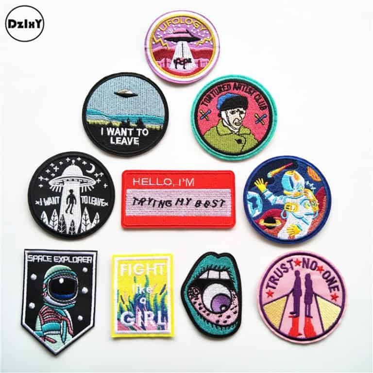 Ten patches for self-expression as examples of cute dropshipping goods