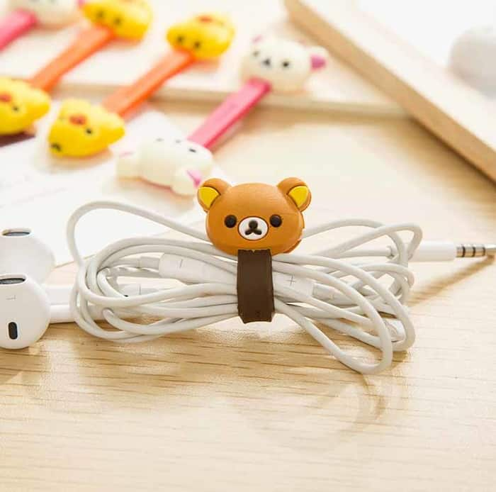 5 cute cable managers shaped as bears and chicks