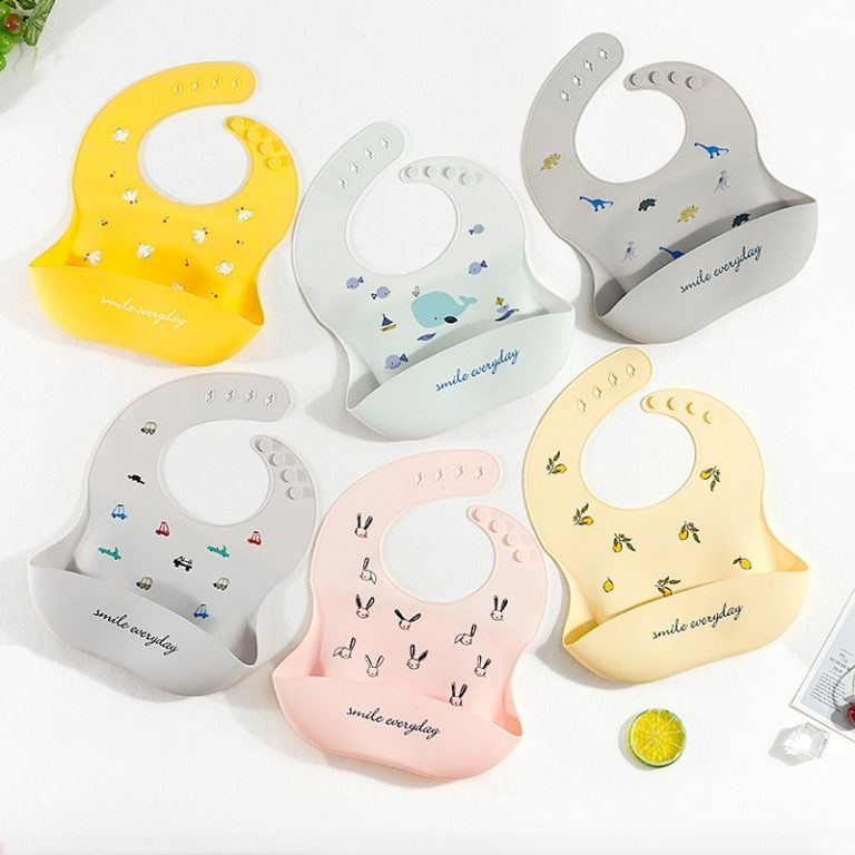 Image of 6 silicone baby bibs