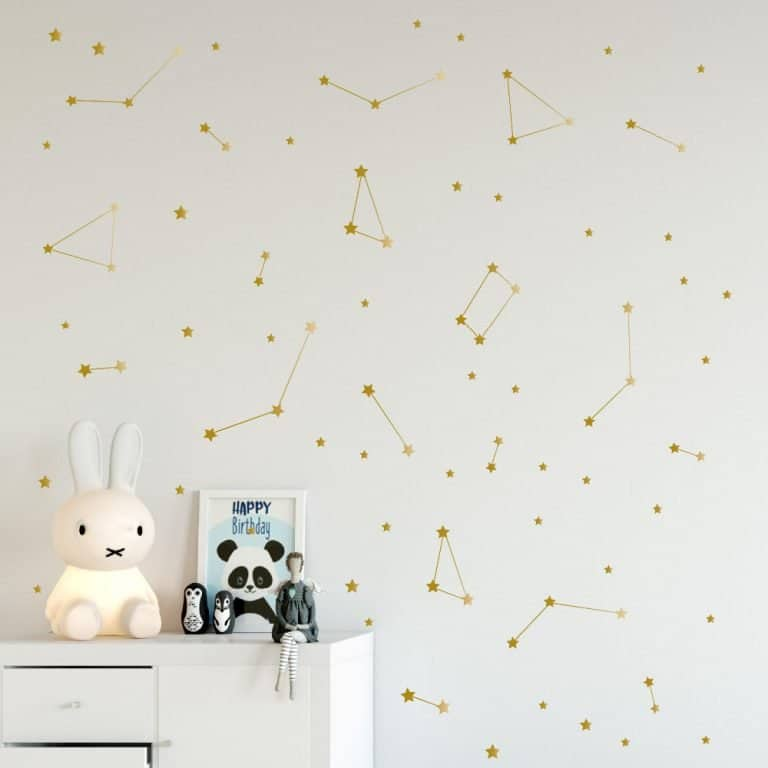 Space-themed room décor