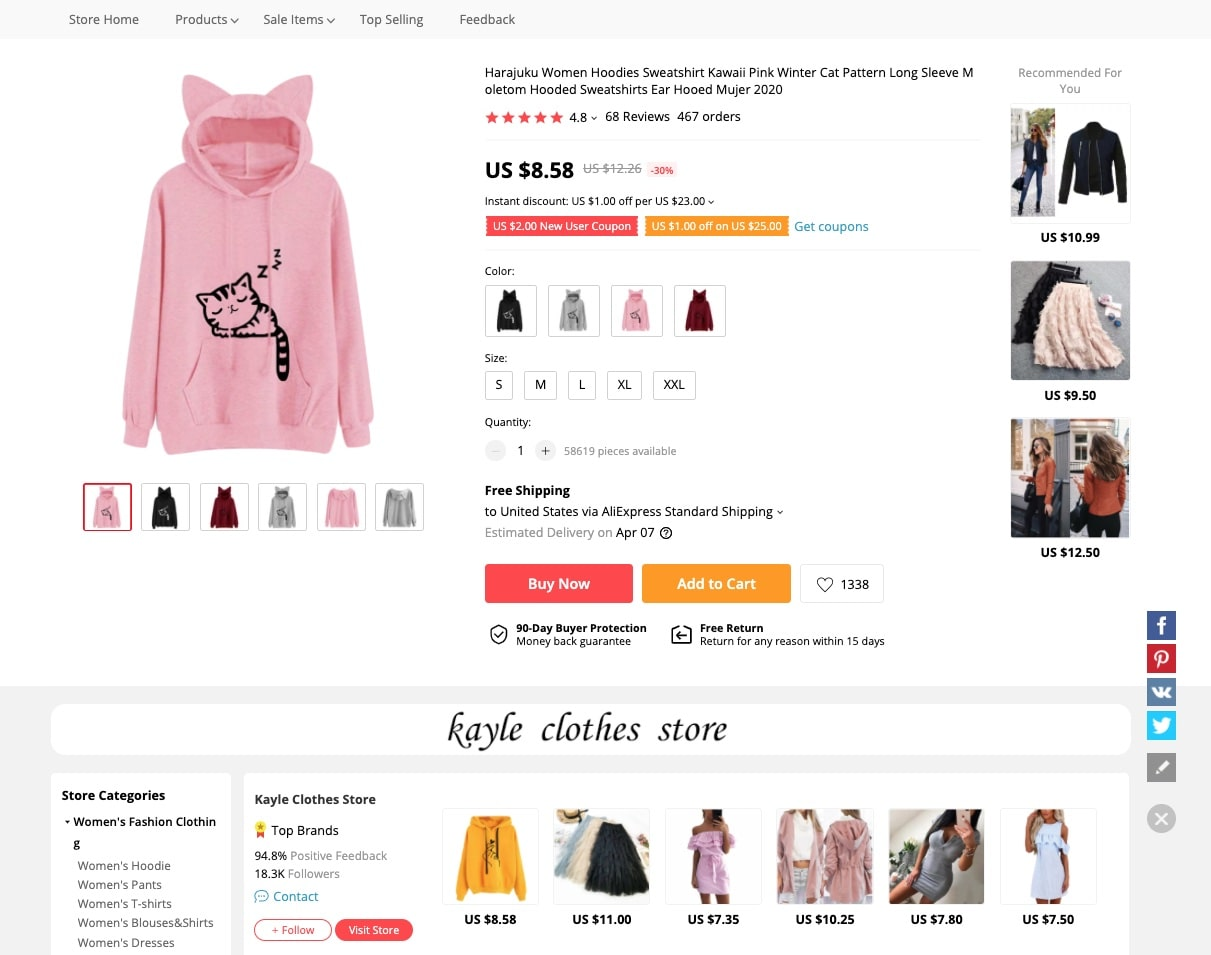 a picture showing an example of products you should dropship for profit in 2021