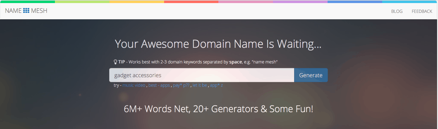 domain name generator Namemesh