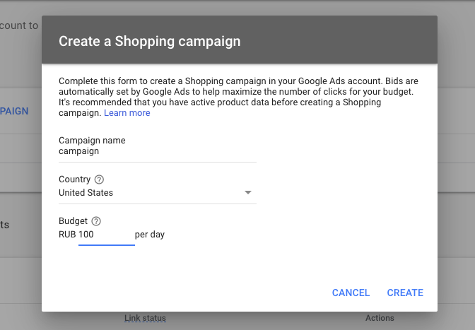 Create a Google Shopping campaign