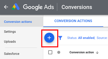 New Conversion in Google Ads