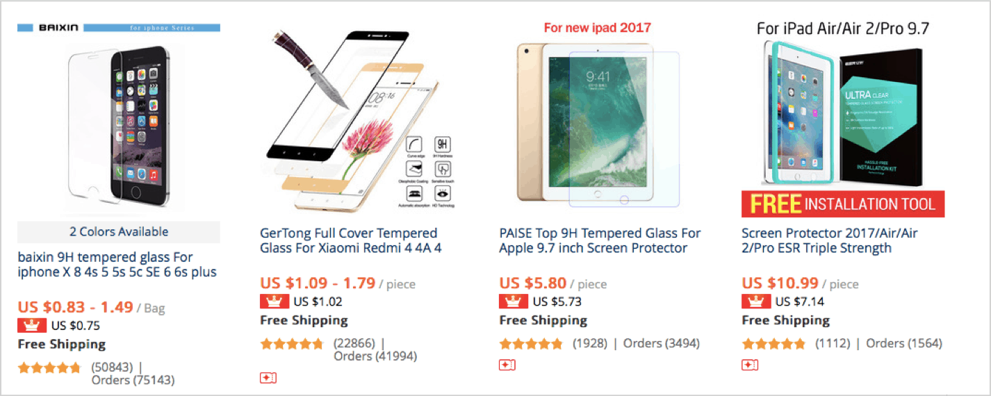 1. Screen protectors and films