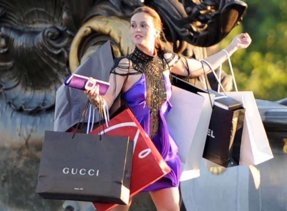 A woman enjoying shopping