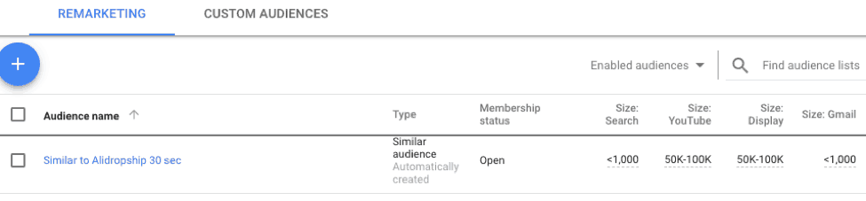 similar audiences in Google Ads