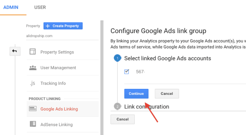 Google Ads Linking