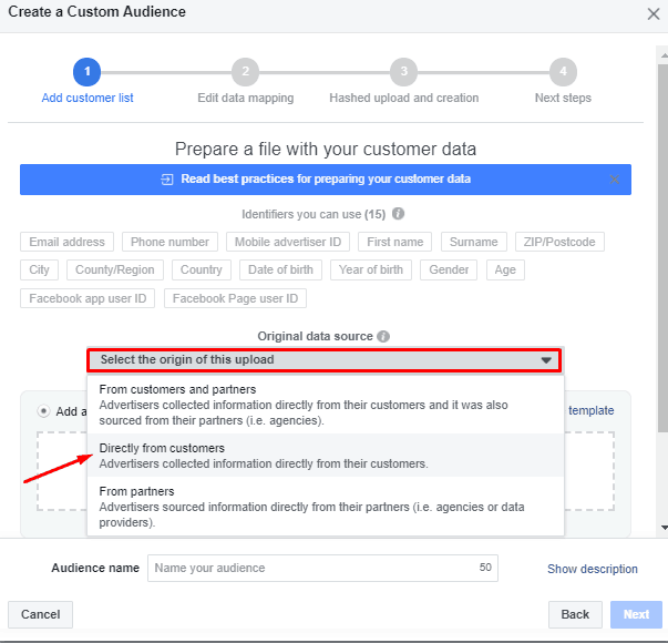 Creating a Custom Email Audience