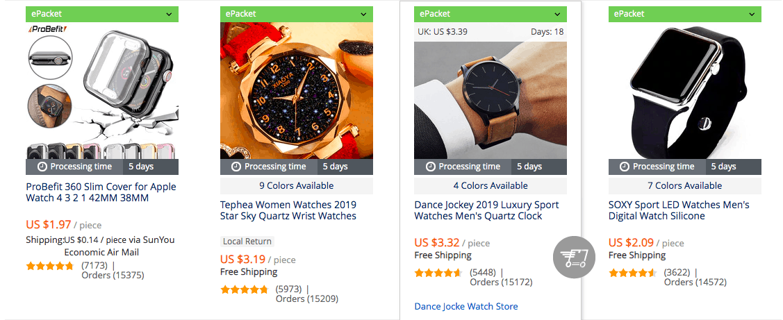 start to dropship watches
