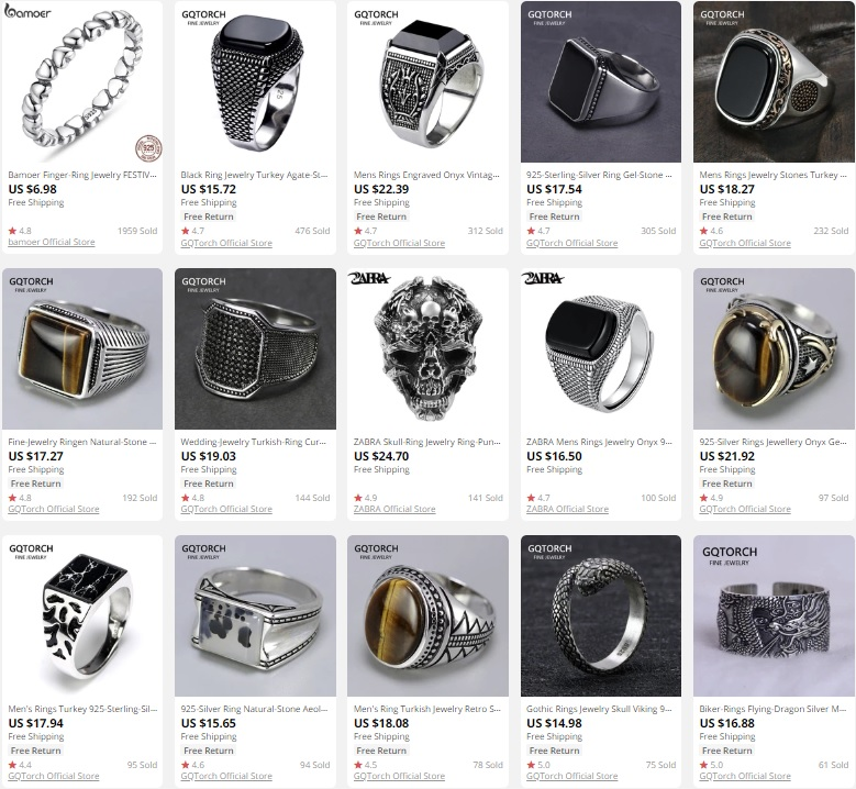 Men Rings to dropship