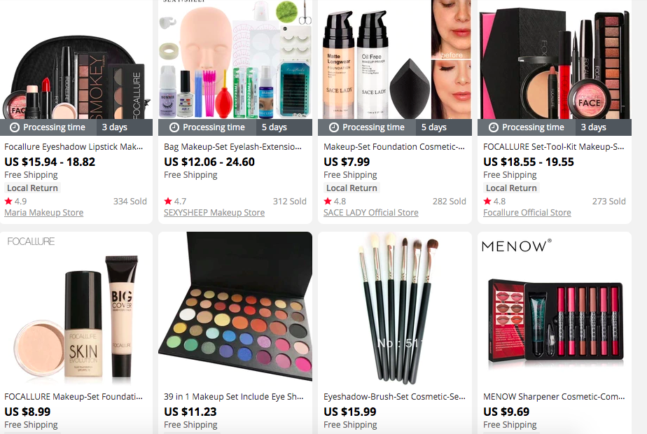 'Makeup & Beauty' products on AliExpress