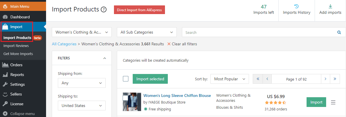 AliDropship Update: Import Products From AliExpress And Start Selling Right Away!
