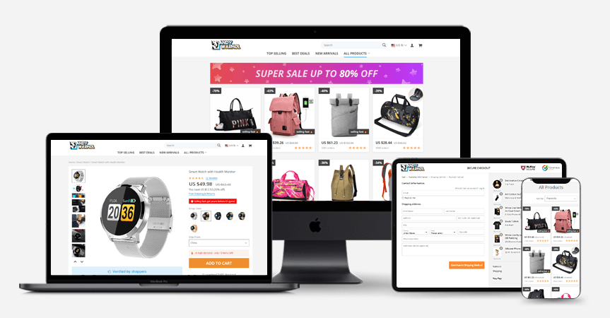 an example of profitable online store theme