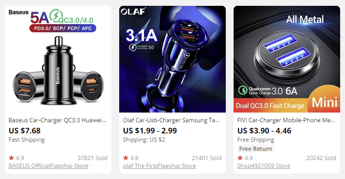 dropship car chargers