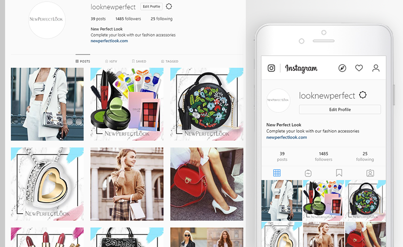 Product images posted on social media to draw the audience into a dropshipping sales funnel