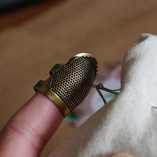 A photo of a thimble