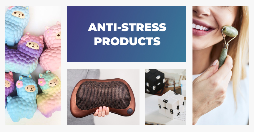 20 anti-stress products to sell in your online store.