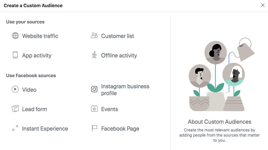 Facebook ad optimization: retargeting