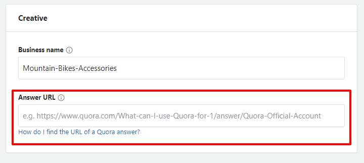 Quora ad promoting an answer