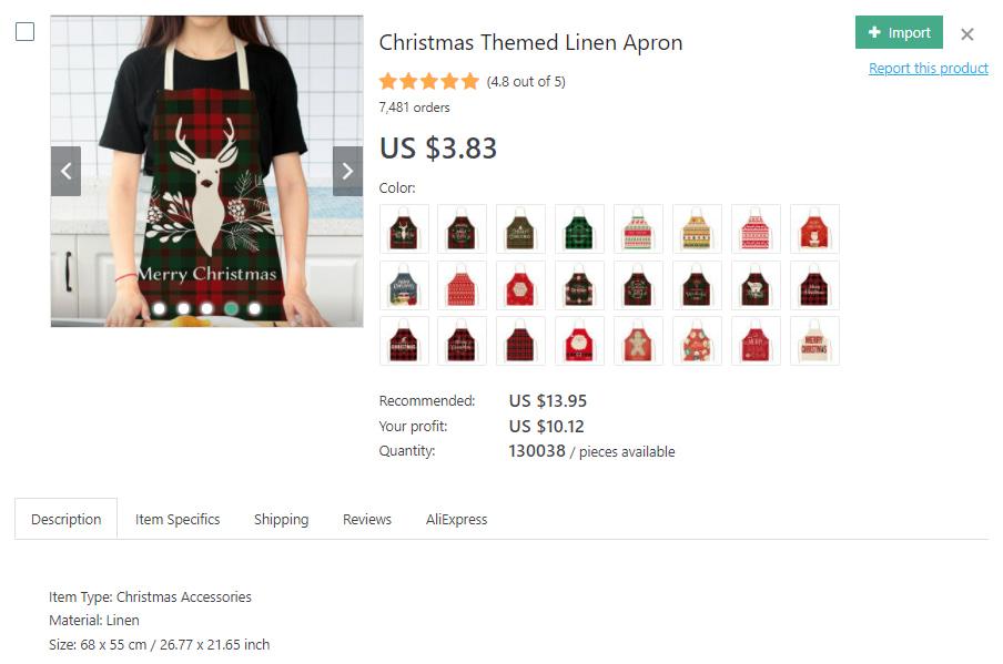 Christmas-themed apron