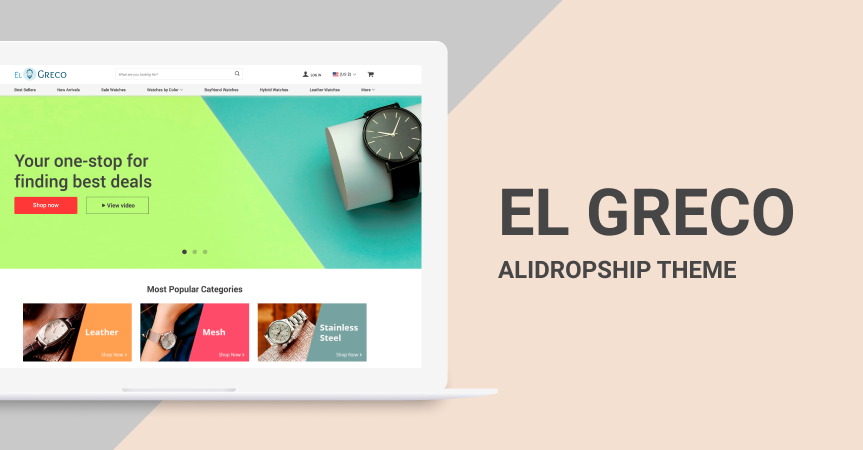 Meet El Greco - high converting website template