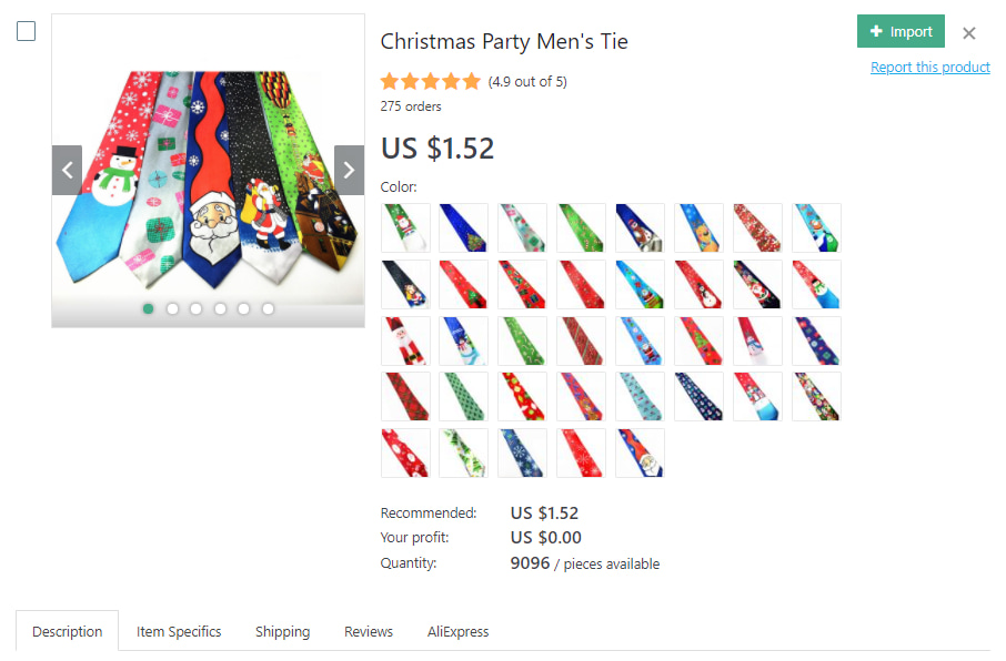 Mens' tie for Christmas