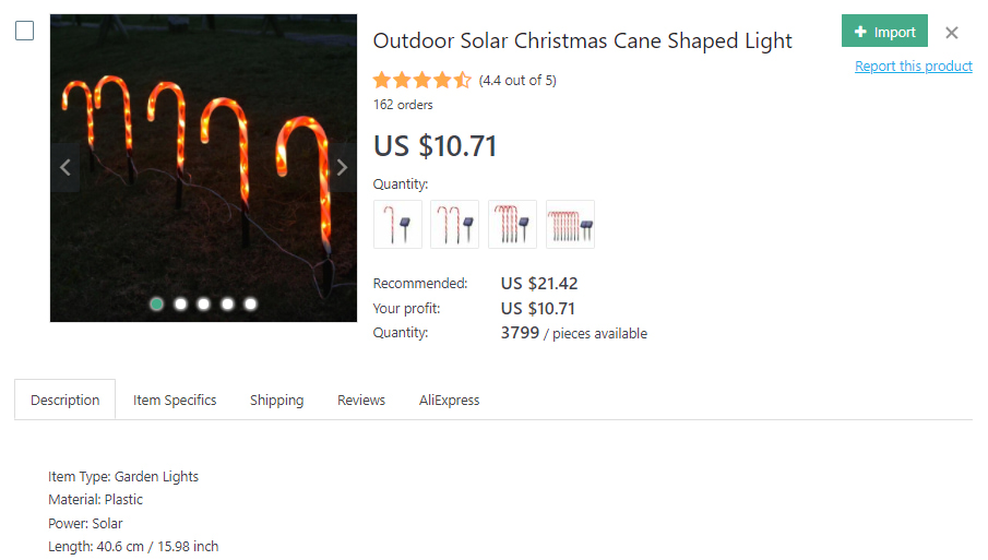 Outdoor lights shaped as Christmas canes