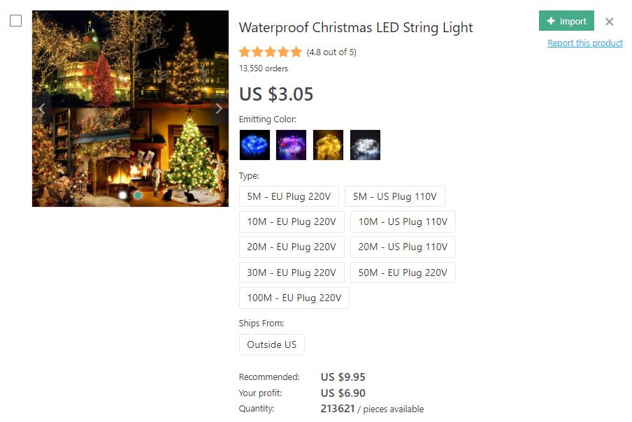 LED string lights