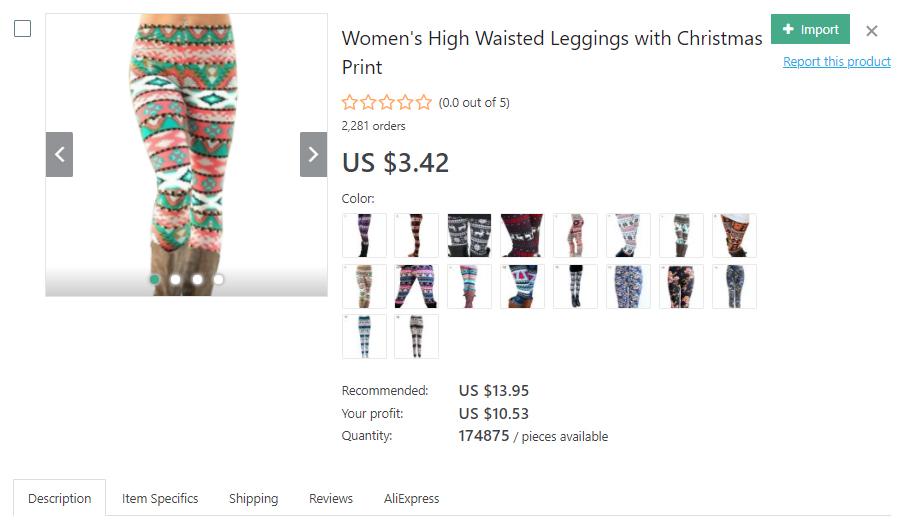 Christmas-themed leggings