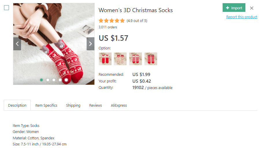 Christmas-themed socks for women