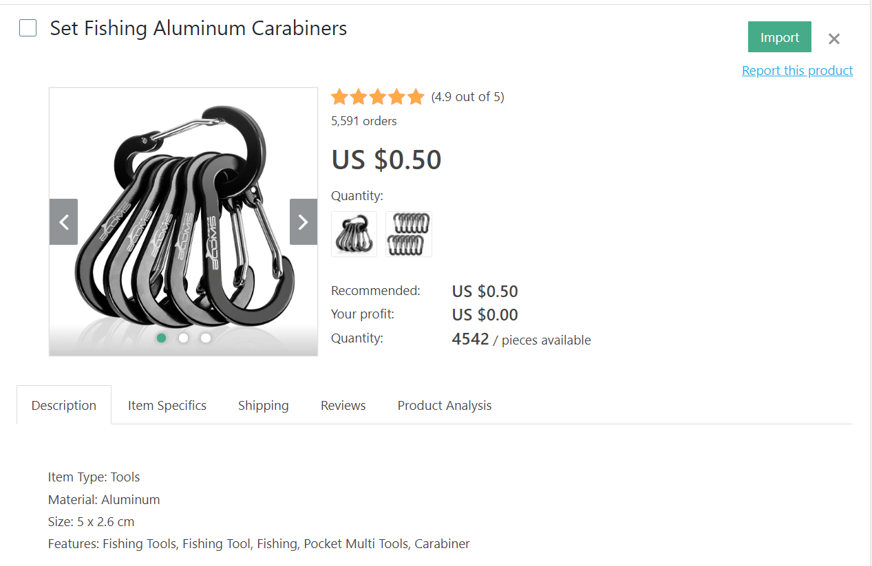 Multipurpose aluminum carabines to dropship