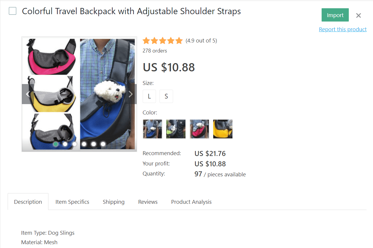 Travel backpack to carry your pet during trips