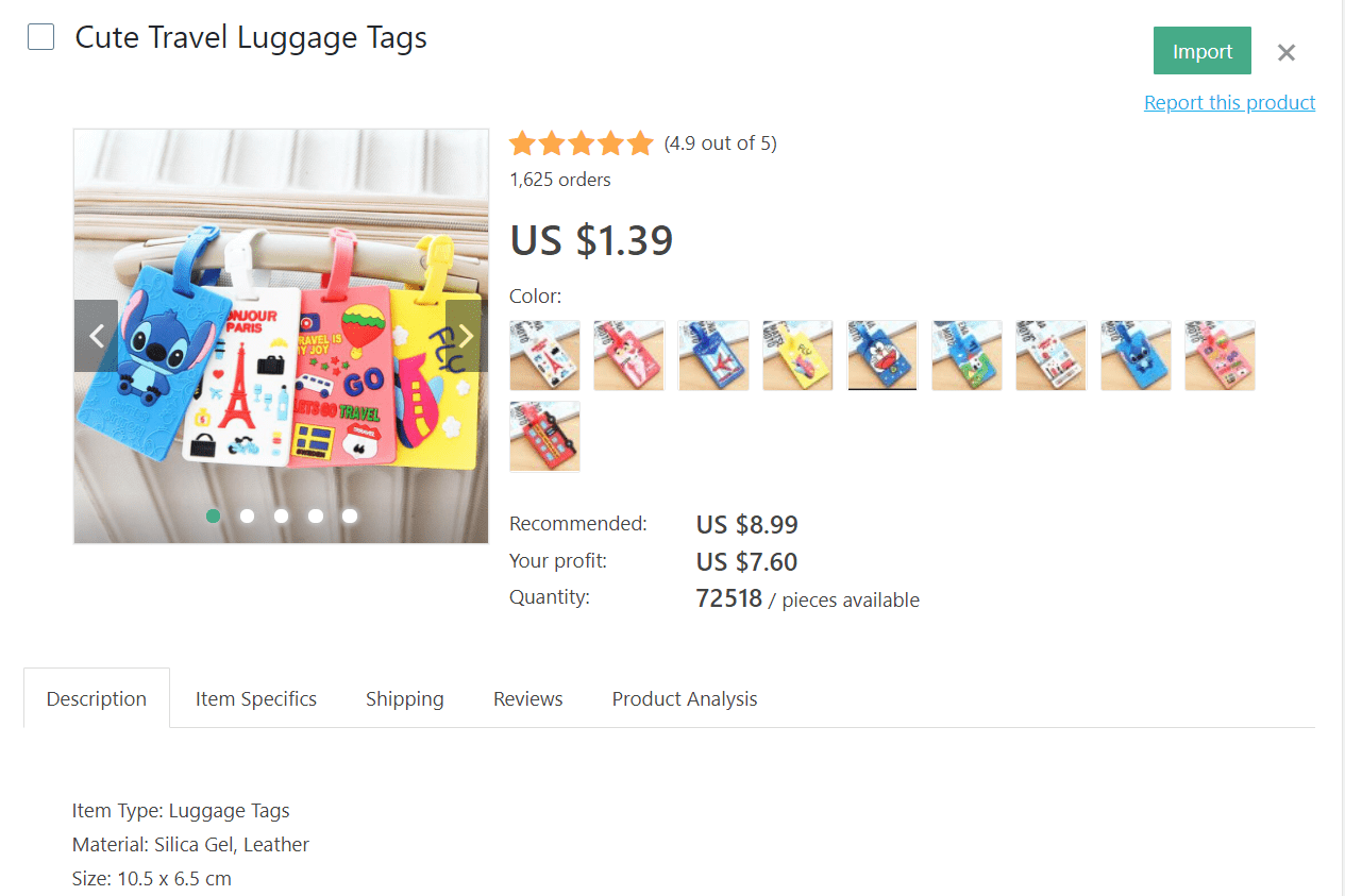 Cute travel luggage tags to dropship from your online store