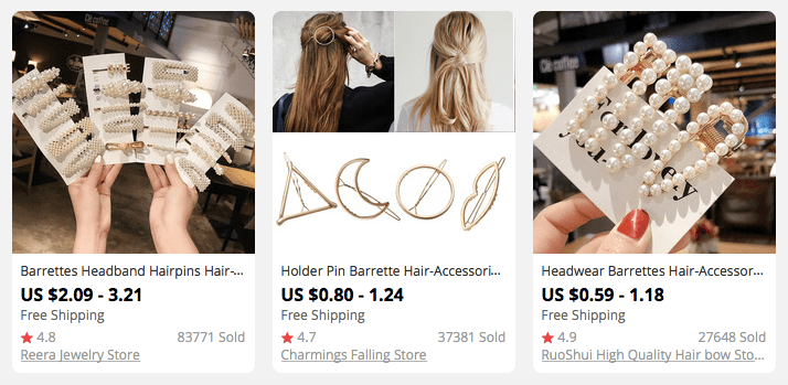 Hair clips and barrettes are one of the best dropshipping niche ideas to consider in 2021
