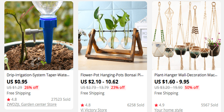 Indoor gardening products - one of the best dropshipping niche ideas for 2021