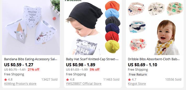 Child bandanas and caps