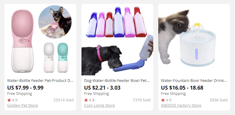 dropshipping pet products