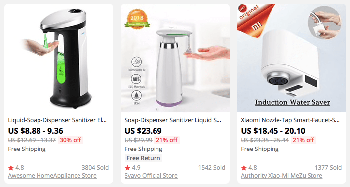 Smart home devices: soap dispensers and water saver