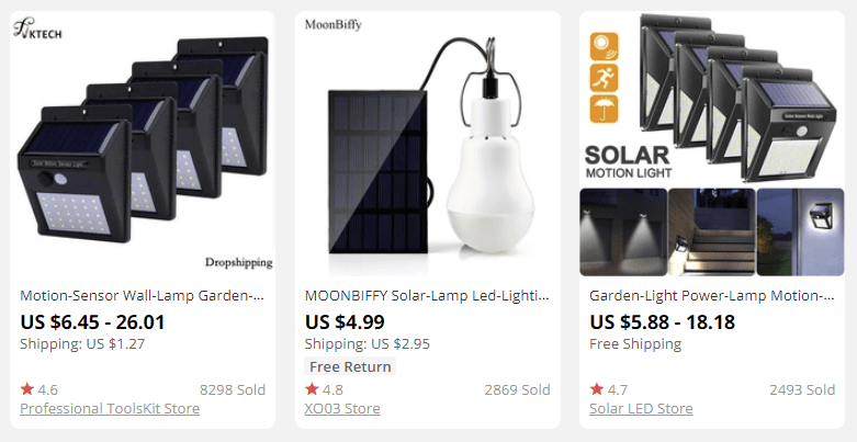 dropshipping solar products