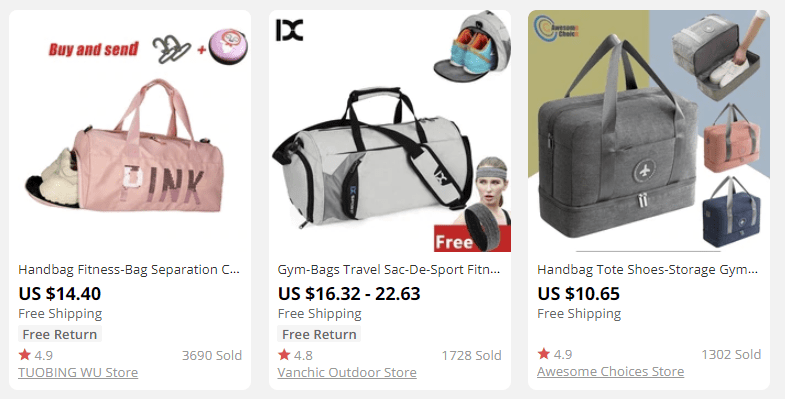 dropshipping sport bags