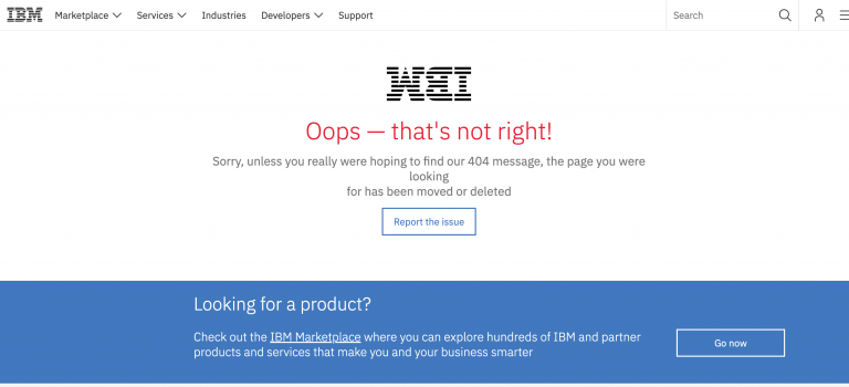 IBM 404 page not found
