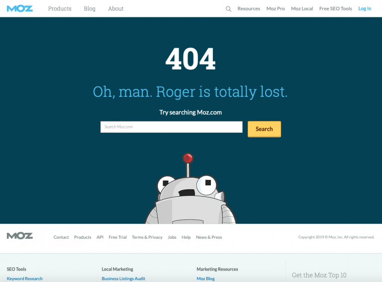 404 page inspiration moz