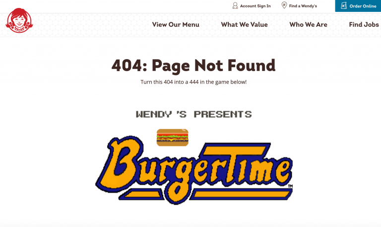 Funny 404 page examples