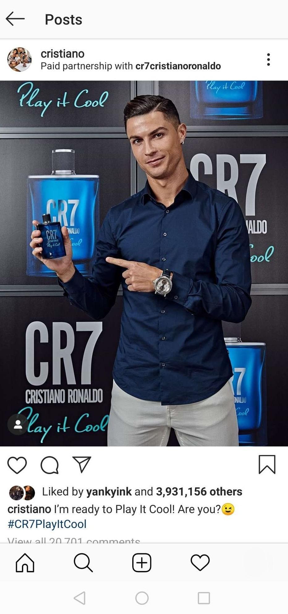 cristiano ronaldo brand